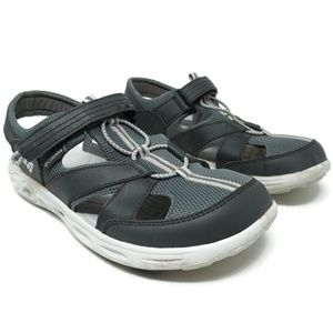 Columbia Kids Youth Hiking Sandals Size 7 Gray
